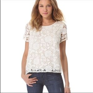 Madewell Floral Lace Refined Tee